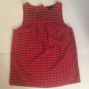 CYNTHIA ROWLEY Navy Blue w/Red Bows Hearts